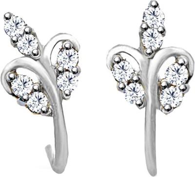 JacknJewel Form Platinum Diamond Stud Earring
