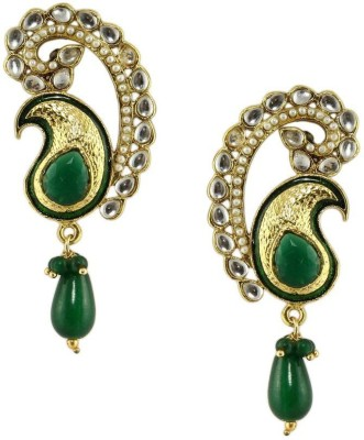 Radhesh Creation Stylish Crystal Brass Stud Earring
