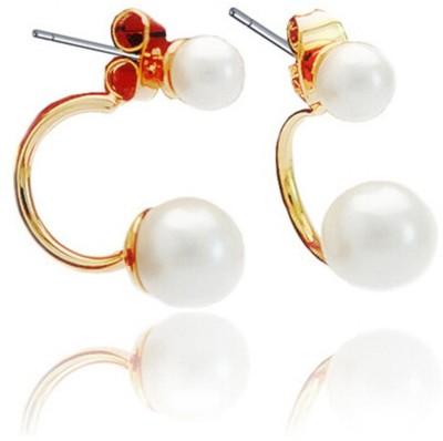 Glitz Romantic Fashion Gold-Plated Faux Pearl Stud Alloy Stud Earring