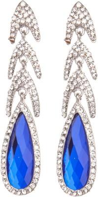 Crimson21 Artificial Bright Blue Danglers Alloy Dangle Earring