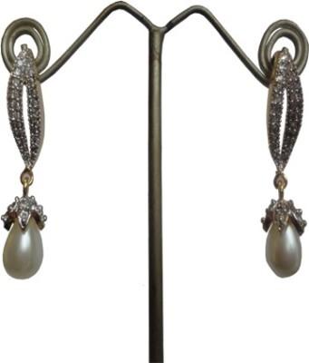 Sri Bansilal pearls jhumka Cubic Zirconia Alloy Drop Earring
