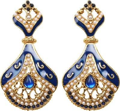 Inaya Everyday::Religious::Wedding & Engagement Brass Dangle Earring