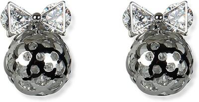 Aimez Jeweled Bow S Metal Stud Earring