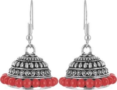 Subharpit Bollywood Stylish Charm Red Alloy Jhumki Earring