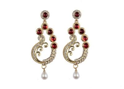 Aashvi Creation Fashion Pearl Alloy Chandelier Earring