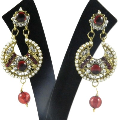 Tradeyard Impex Beautiful Cubic Zirconia Alloy Chandbali Earring