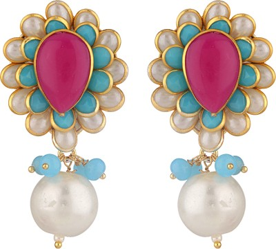 Be You Stunning Pearl Brass Drop Earring