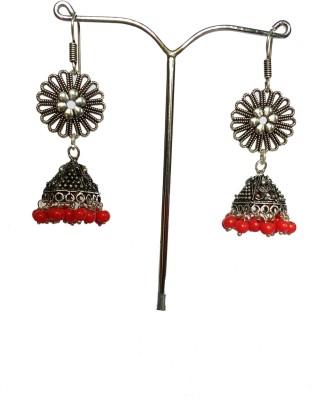 modifier red alloy Alloy Jhumki Earring
