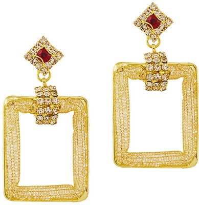 REEVA FASHION JEWELLERY GEOMETRICAL Zinc Chandbali Earring