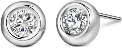 TGI Fashion Round Zircon Sterling Silver Stud Earring