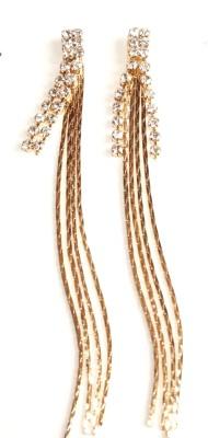 Sans India Crystal Chain Alloy Tassel Earring