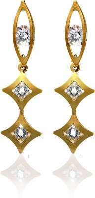 Arum Golden Alloy Drop Earring