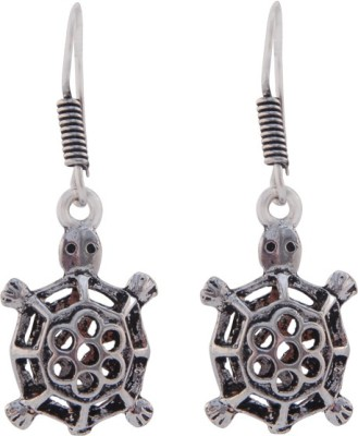 T M FASHIONS Tortoise shaped German Silver Dangle Earring