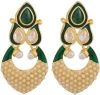 Maayra Suave Kundan Meenakari Crystal Copper Drop Earring best price on Flipkart @ Rs. 495