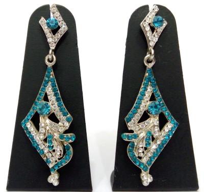 Womaniya Blue Stone Alloy Dangle Earring