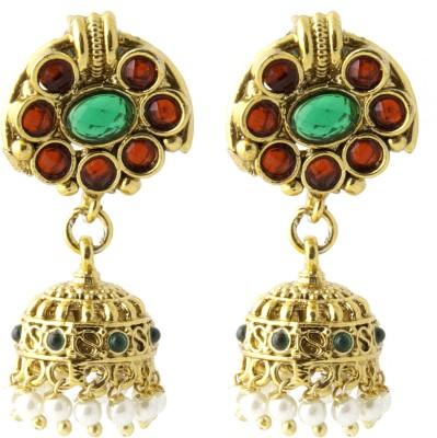 Aaina Home Decor Anvi Cubic Zirconia Copper Jhumki Earring