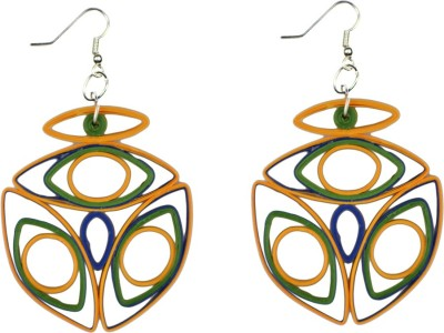 Trendmania Multicolor Paper quilled earrings Paper Dangle Earring