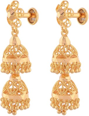 Ganapathy Gems Spring sparkle Copper Jhumki Earring