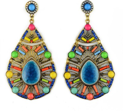 Insia Ethereal Azure Statement Earrings Alloy Drop Earring