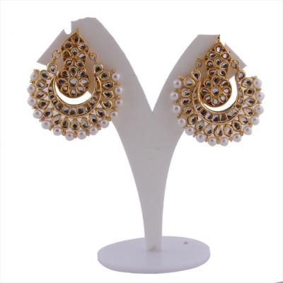 S S Mart Glass Kundan Bali Alloy Chandbali Earring