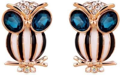 Roma Brothers Owl Swk1 Crystal Alloy Stud Earring