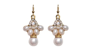 NM Products White Beauty Stone Dangle Earring