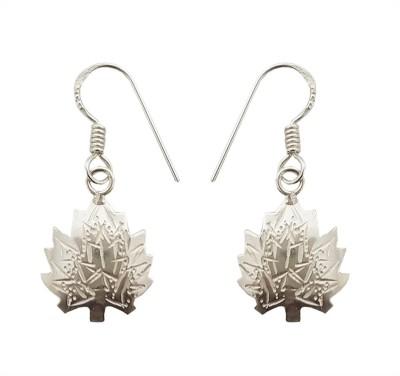 Mehrunnisa Kashmiri 92.5 Sterling Silver Small Chinar For Girls Metal Dangle Earring