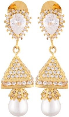 SB Fashions Golden american diamond earring Brass Stick-on Earring, Drop Earring