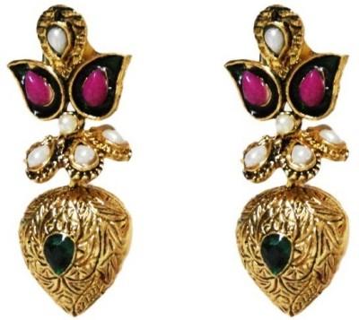 Aarnaa La Trendz Antique Golden Alloy Drop Earring