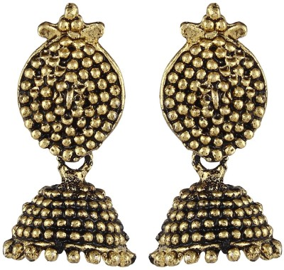 Crazytowear Oxidized Metal Alloy Jhumki Earring