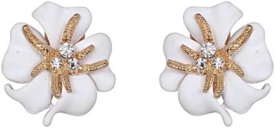 Amroha Crafts Flower Starfish White Alloy Stud Earring