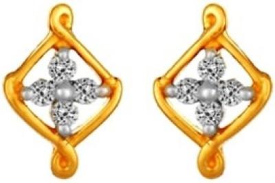 Gunjan Diamond Stylish Spring Sparkle Diamond Gold Stud Earring