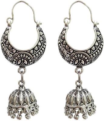 Mehrunnisa Oxidized Bali Jhumki Metal Jhumki Earring