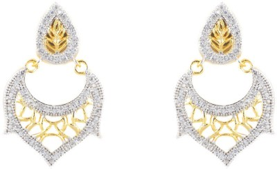 SBS Leafy Alloy Chandbali Earring