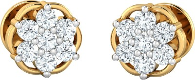 P.N.Gadgil Jewellers Star Floret Yellow Gold 18kt Diamond Stud Earring at flipkart