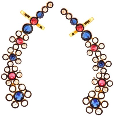 the jewelbox Floral Delight Brass Cuff Earring