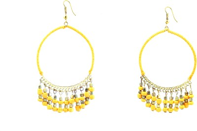 Zidox Yellow spree Brass Dangle Earring