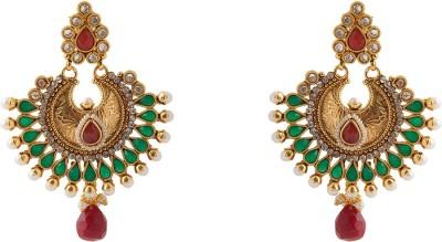 Aaina Home Decor Trendy Copper Chandbali Earring