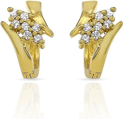 Mahi Floral Beauty Cubic Zirconia Alloy Stud Earring at flipkart