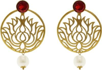 Ishaani Love Forever Cubic Zirconia Alloy Chandbali Earring