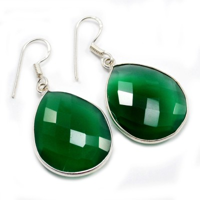 Silvesto India 1453 Quartz Sterling Silver Dangle Earring