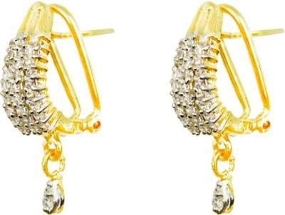 AAHAAN RETAILS GOLD LIGHT White Zircon Alloy Clip-on Earring