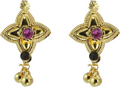 Women Trendz Star Shaped Saaj Crystal Alloy Drop Earring