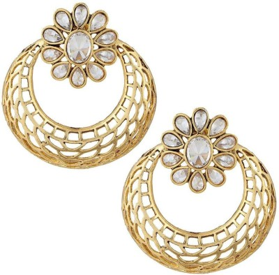 Naveli Artificial Jewellery Crystal Copper Chandbali Earring