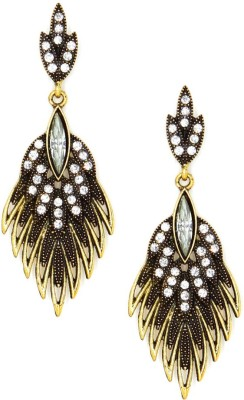 Madclozet African Inspired Metal Chandelier Earring