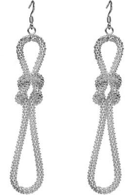 Jaipur Couture Bold Women Silver Dangle Earring