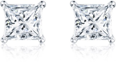 Vanity Roots Square Glaze Crystal Alloy Stud Earring