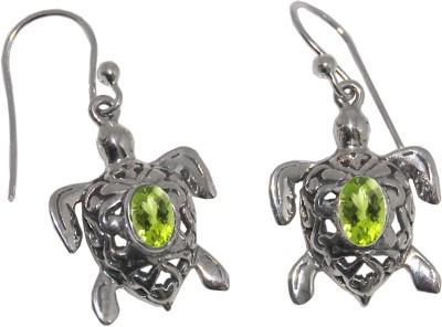 Arvino Little Tortoise Peridot Sterling Silver Dangle Earring