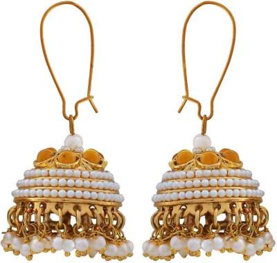 Maayra Shining Crystal Copper Jhumki Earring