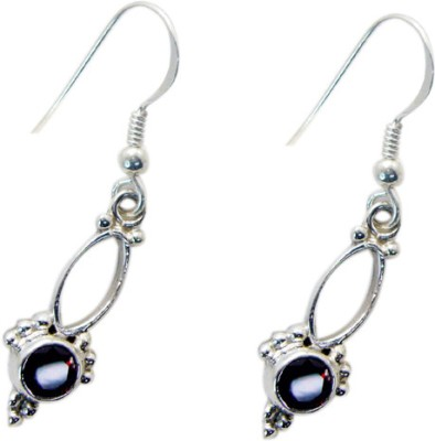 Riyo Prettystar Garnet Garnet Sterling Silver Dangle Earring